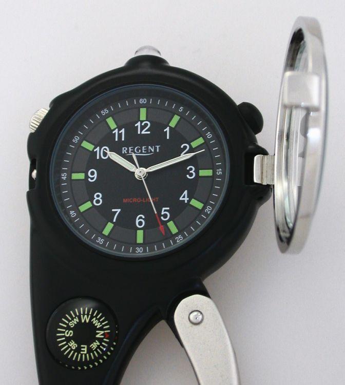 regent taschenuhr g rteluhr mit licht lupe kompass. Black Bedroom Furniture Sets. Home Design Ideas