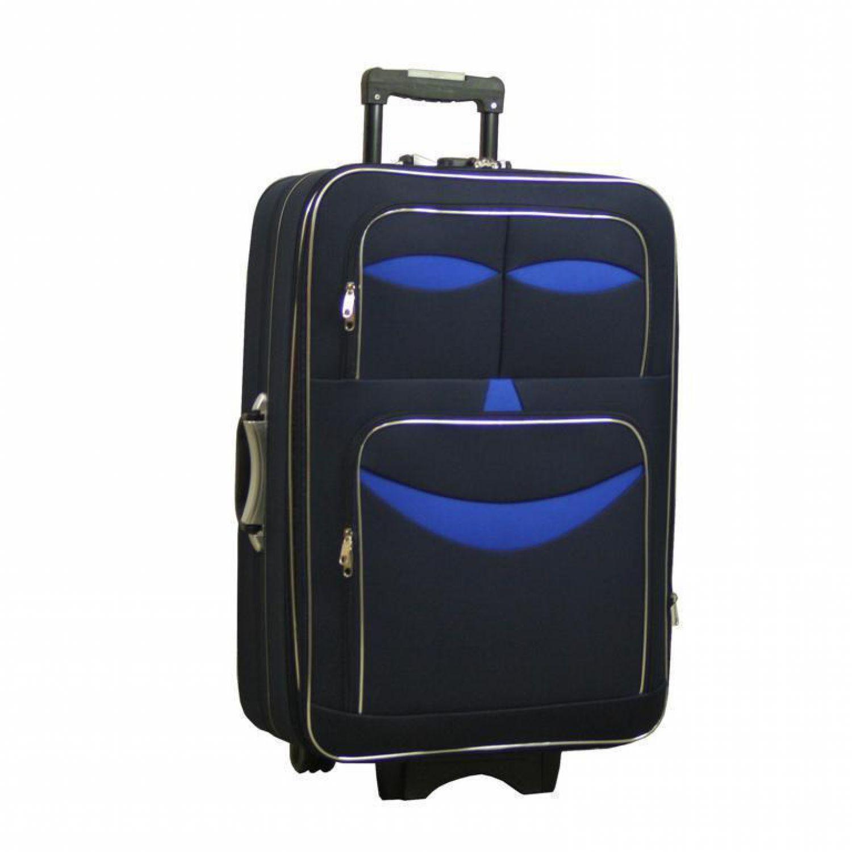 reisekoffer dunkelblau xxl 150l 87cm stofftrolley koffer. Black Bedroom Furniture Sets. Home Design Ideas