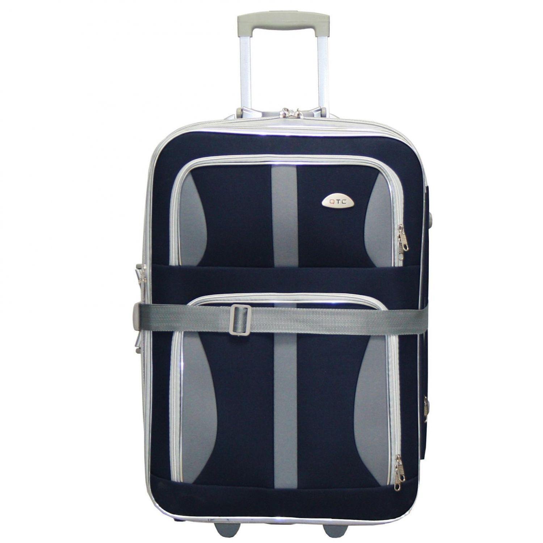 reisekoffer kofferband stoff reise trolley dunkelblau xxl. Black Bedroom Furniture Sets. Home Design Ideas