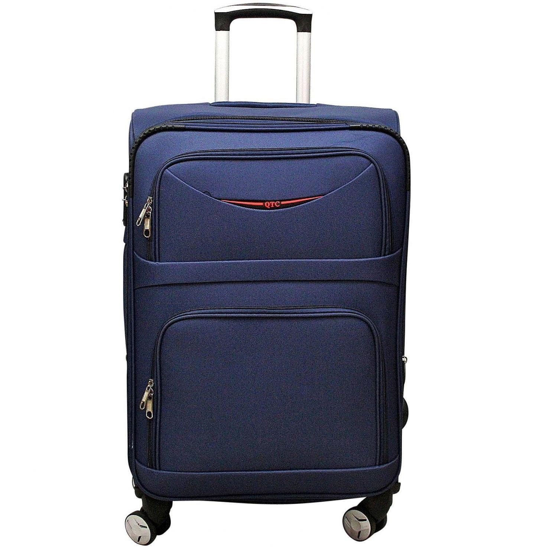 luxus reisekoffer stoff reise trolley blau xxl 85 cm. Black Bedroom Furniture Sets. Home Design Ideas