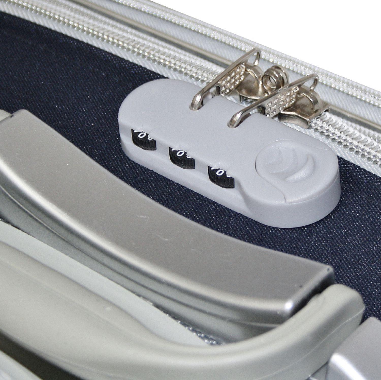 reisekoffer mit kofferband stoff reise trolley rot l. Black Bedroom Furniture Sets. Home Design Ideas