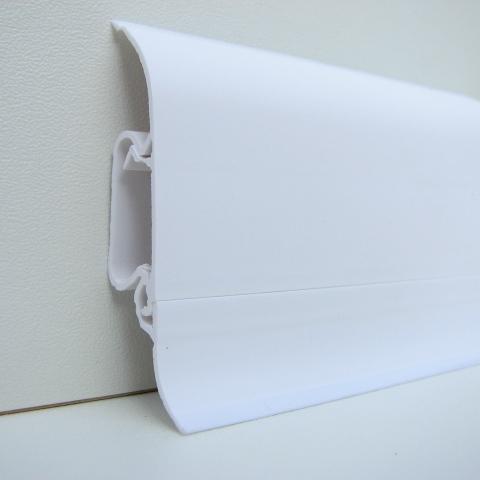 sockelleiste clouflex weiss mit abnehmbarem kabelkanal. Black Bedroom Furniture Sets. Home Design Ideas