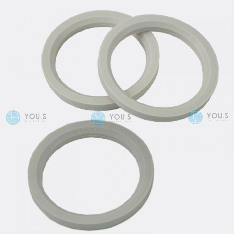 4 X ANELLI DI CENTRAGGIO anelli distanziatori per cerchi in allumio 72,0-57,1 mm MAK TSW