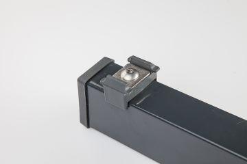 pfosten typ pm mit haltepl ttchen anthrazit ral 7016 1030 mm zaunpfosten ebay. Black Bedroom Furniture Sets. Home Design Ideas