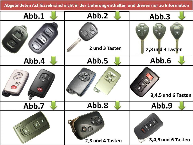 details zu toyota schlÜssel funkschlÜssel batterie auris aygo avensis camry  corolla hilux p