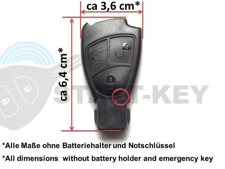 mercedes schl ssel 2 tasten geh use batterie sprinter vito. Black Bedroom Furniture Sets. Home Design Ideas
