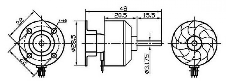 brushless motor outrunner cf2822 14 1200kv 200 w ebay. Black Bedroom Furniture Sets. Home Design Ideas