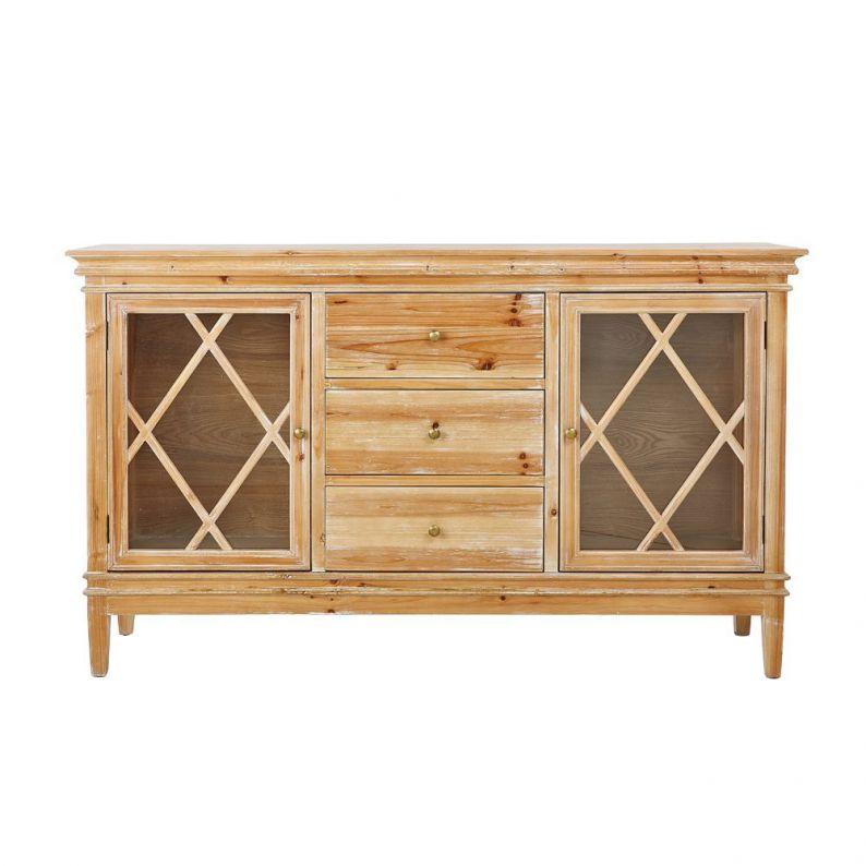Sideboard massiv tannenholz landhausstil 160 x 42 x 95 cm for Sideboard 95 cm