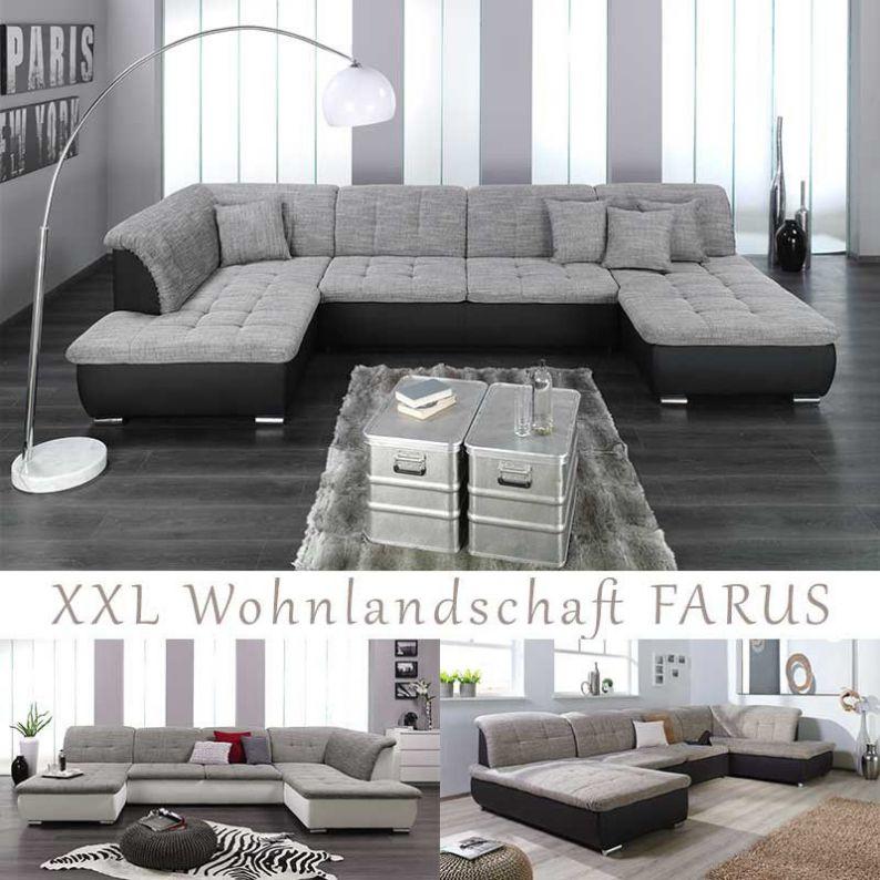 Couch Sofa Wohnlandschaft Couchgarnitur Wohnzimmercouch Xxl U-Form