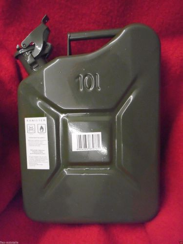 10l kanister reserve benzin diesel metall benzinkanister. Black Bedroom Furniture Sets. Home Design Ideas