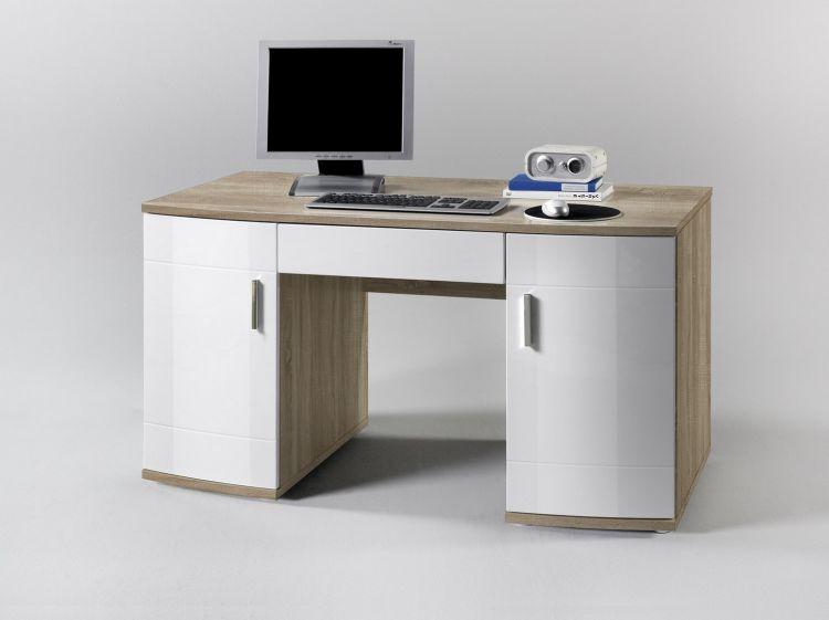 schreibtisch korpus und arbeitsplatte sonoma eiche nb t ren und schubkasten hoc ebay. Black Bedroom Furniture Sets. Home Design Ideas