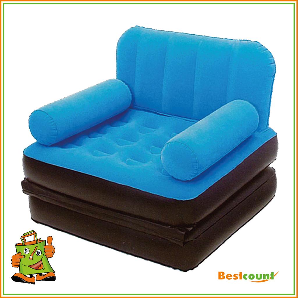 Luftbett sessel sofa klappbar couch aufblasbar camping matratze g ste 191x97x64 ebay Sofa aufblasbar