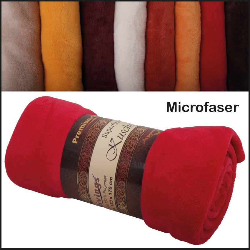 kuscheldecke tagesdecke microfaser decke wohndecke 130x170 150x200 220x240 ebay. Black Bedroom Furniture Sets. Home Design Ideas