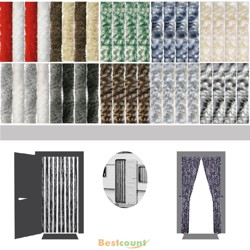 flauschvorhang t rvorhang insektenschutz wohnwagen camping wohnmobil chenille. Black Bedroom Furniture Sets. Home Design Ideas
