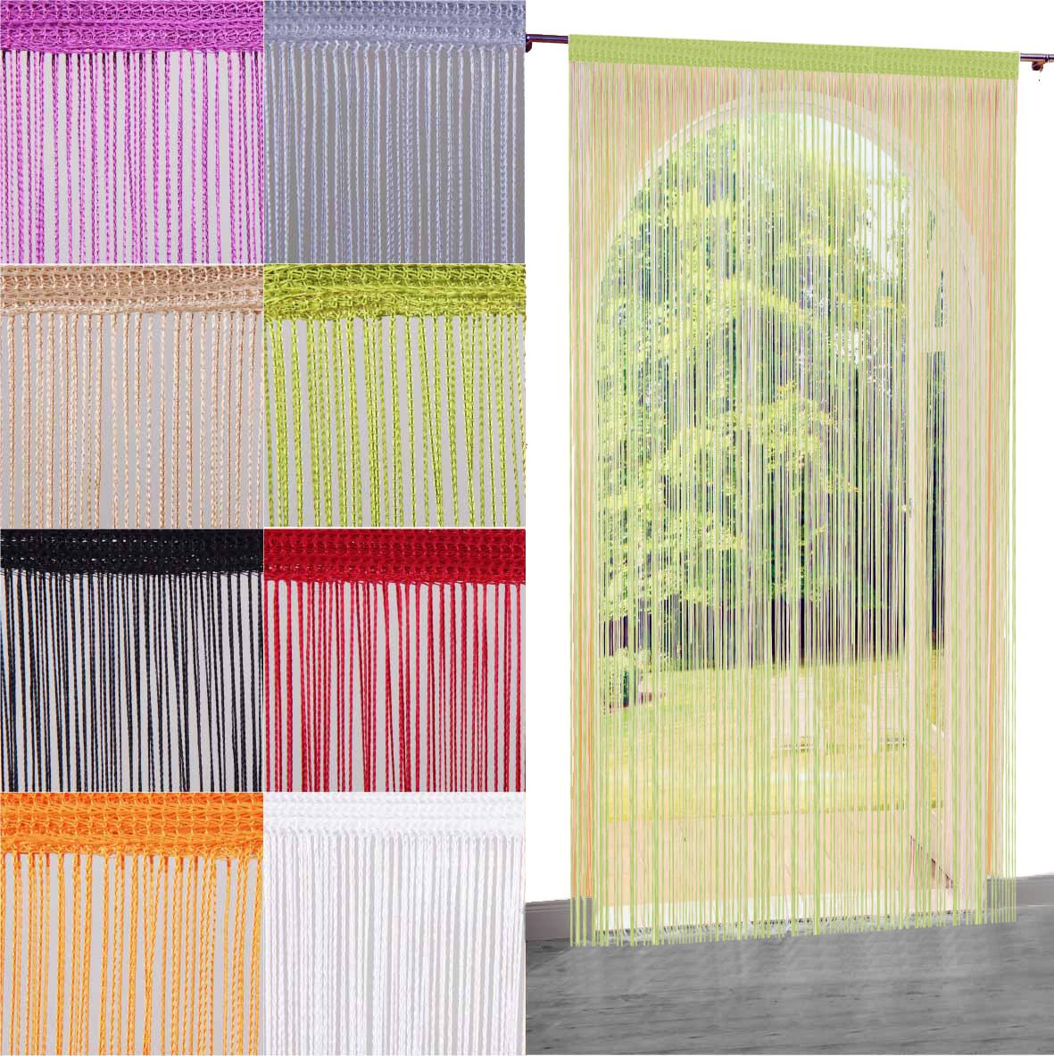 fadenvorhang fadengardine t rvorhang raumteiler gardine vorhang dekoration store ebay. Black Bedroom Furniture Sets. Home Design Ideas