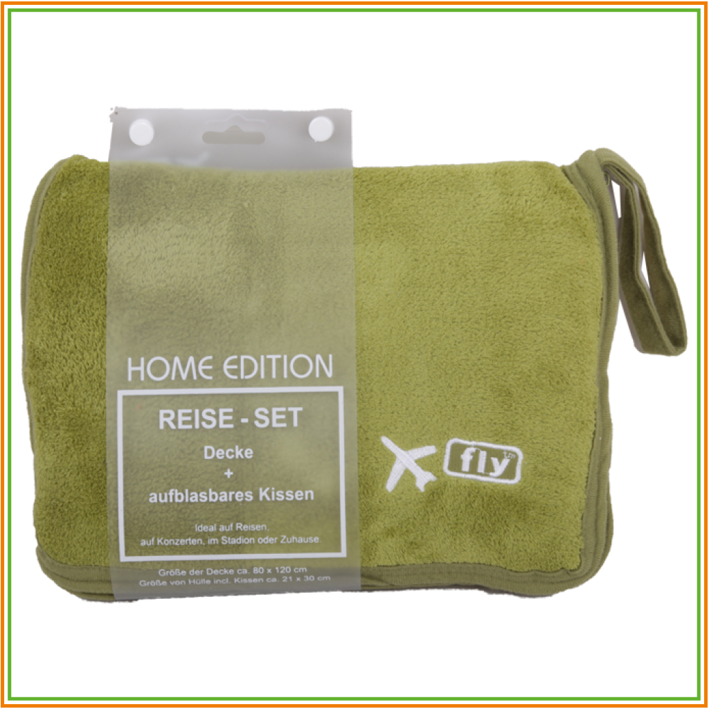 reise set fleece decke aufblasbares kissen reisedecke flugzeug travel blanket ebay. Black Bedroom Furniture Sets. Home Design Ideas