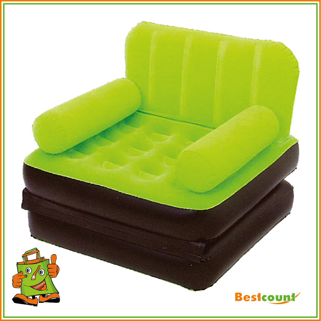 luftbett sessel sofa klappbar couch aufblasbar camping matratze g ste 191x97x64 ebay. Black Bedroom Furniture Sets. Home Design Ideas