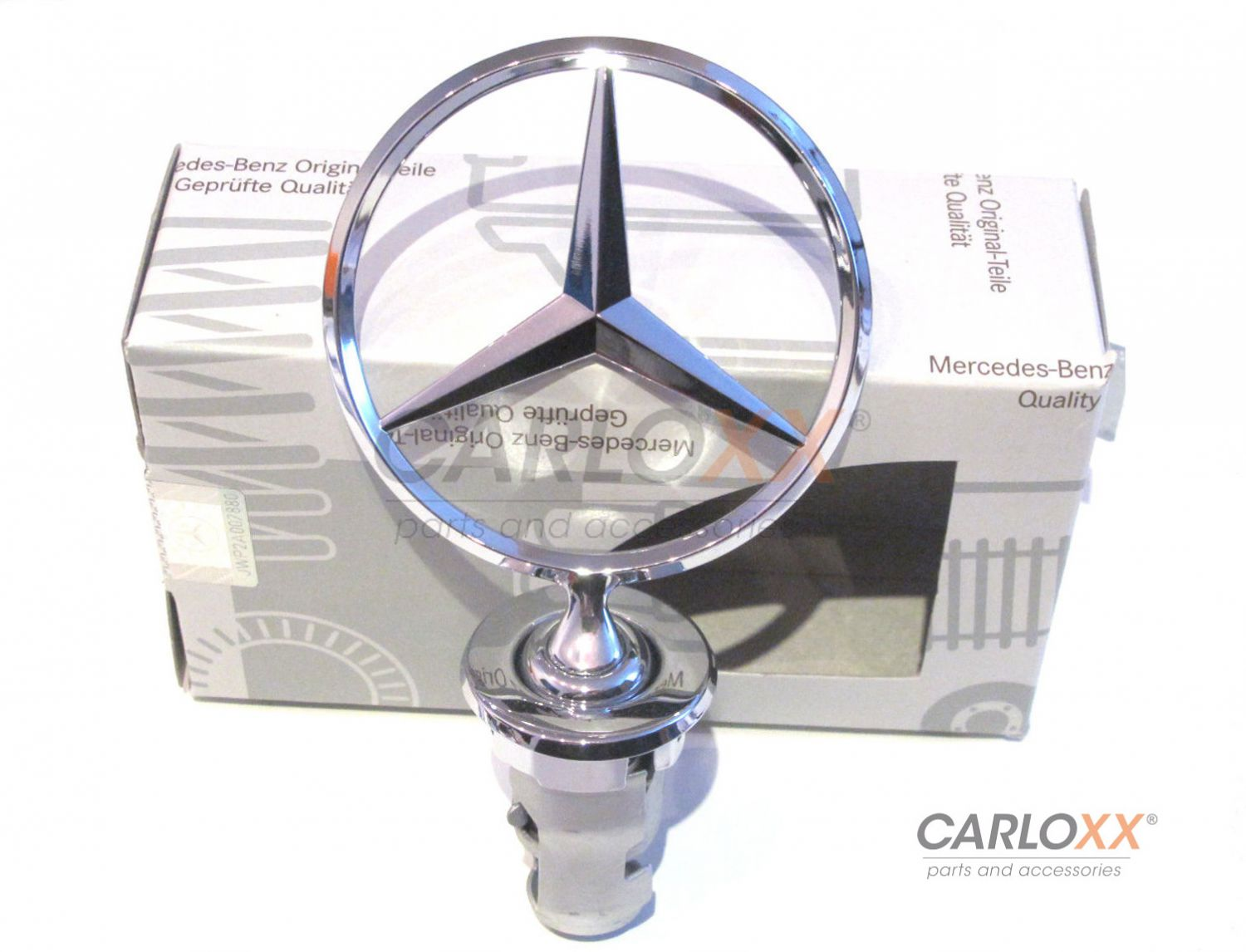 Mercedes benz bonnet stars emblem w126 v126 s class for Mercedes benz bonnet badge