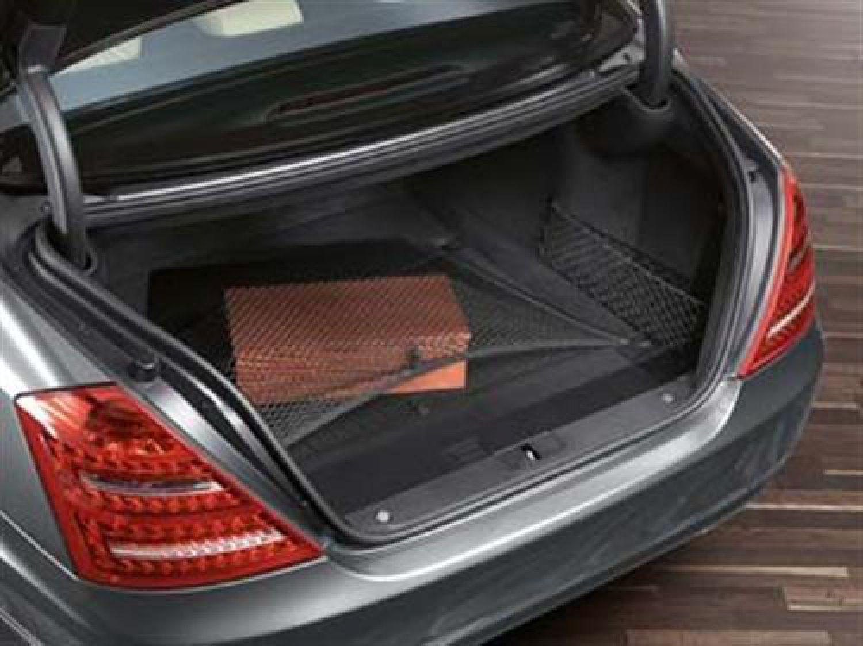 Mercedes benz cargo net boot floor black for w221 s class for Mercedes benz cargo net