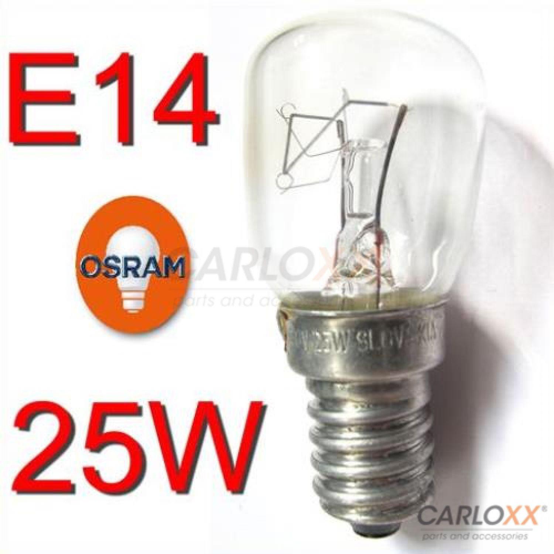 röhrenlampe t26 birnform 25 watt e14 klar t26x57  osram  ~ Kühlschrank Watt