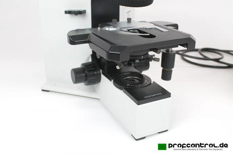 Olympus bx microscope trinocular fluorescence w filter cube