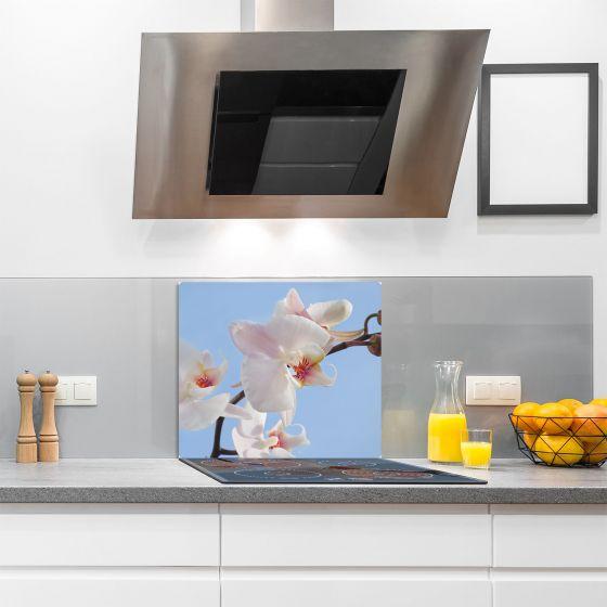 herdabdeckplatten 60x52 cm ceranfeld abdeckung glas spritzschutz k che wei ebay. Black Bedroom Furniture Sets. Home Design Ideas