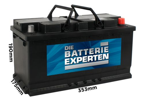 wayman autobatterie 12v 100ah 830a w100 ersetzt 88ah 90ah. Black Bedroom Furniture Sets. Home Design Ideas