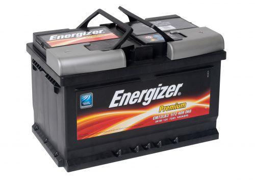 energizer premium autobatterie 12v 72ah 680a em72 geladen. Black Bedroom Furniture Sets. Home Design Ideas