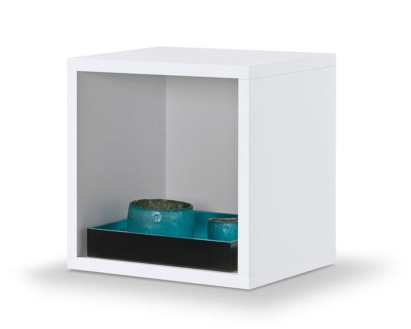 cube wei regalw rfel regal kubus werkzeuglose montage durch clic system ebay. Black Bedroom Furniture Sets. Home Design Ideas