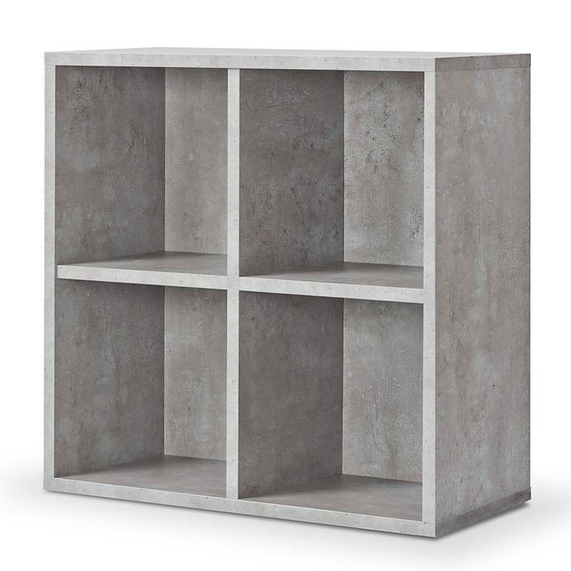 4er cube regal industrial betonoptik regalw rfel werkzeuglose montage ebay. Black Bedroom Furniture Sets. Home Design Ideas