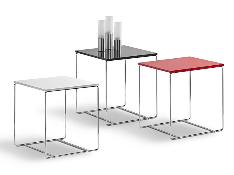 Beistelltisch rot hochglanz couchtisch tisch for Couchtisch 40x40
