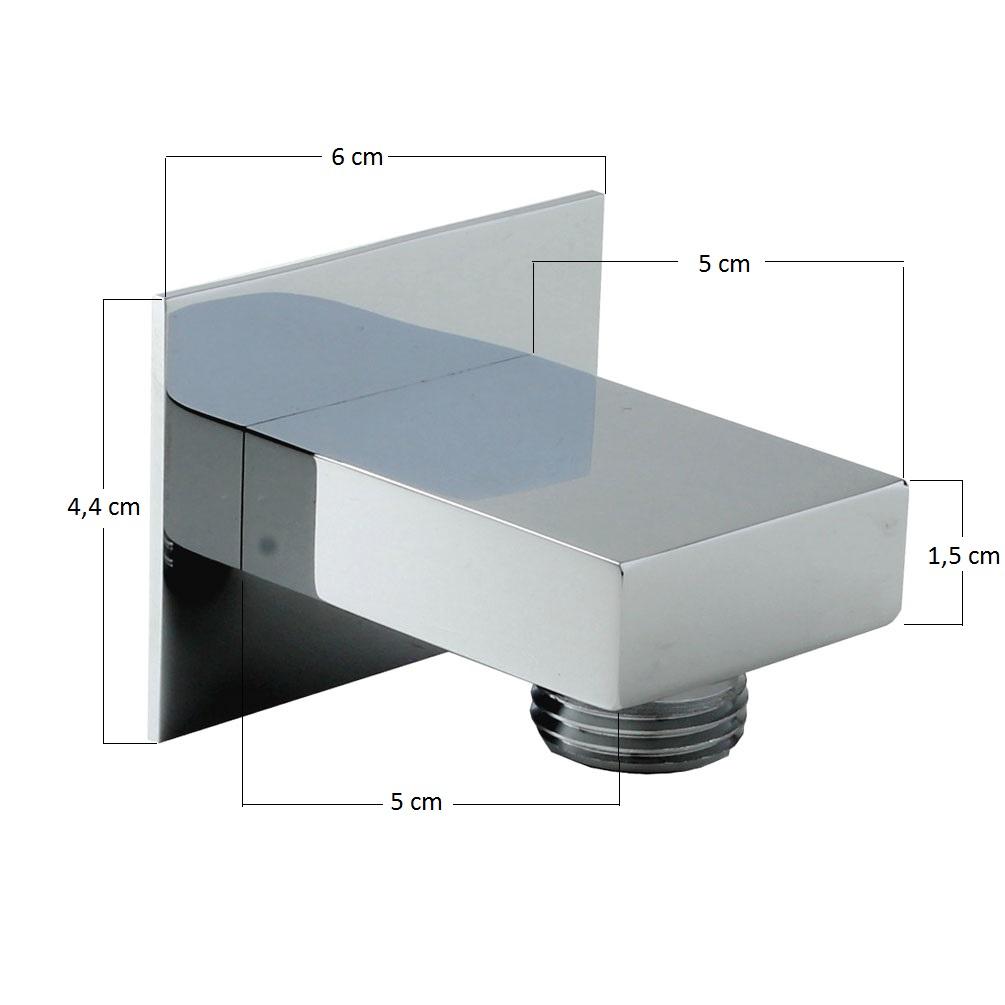 handbrause set quadratisch duschbrause mit schlauch wandanschluss bogen brauseha ebay. Black Bedroom Furniture Sets. Home Design Ideas