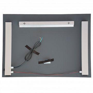 design badspiegel flurspiegel mit led beleuchtung 80cm x 60cm bad wc j5909 ebay. Black Bedroom Furniture Sets. Home Design Ideas