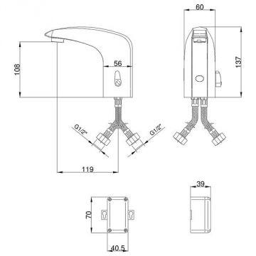infrarot ir sensor waschbecken armatur kalt warm schw bisch hall hessental. Black Bedroom Furniture Sets. Home Design Ideas