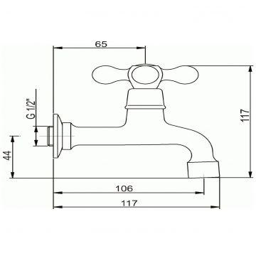 kaltwasser ventil waschtisch wasserhahn g stetoilette wandauslauf wand armatur ebay. Black Bedroom Furniture Sets. Home Design Ideas