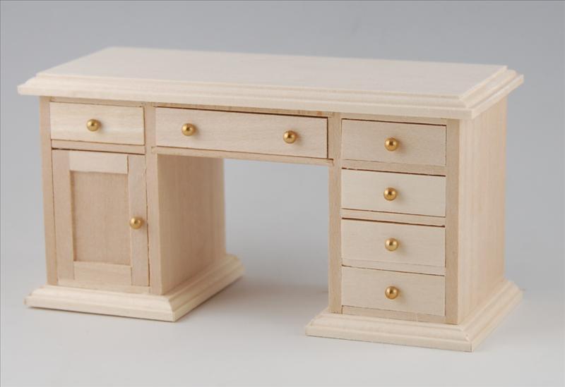 Schreibtisch naturholz puppenhaus puppenstube 1 12 for Schreibtisch naturholz