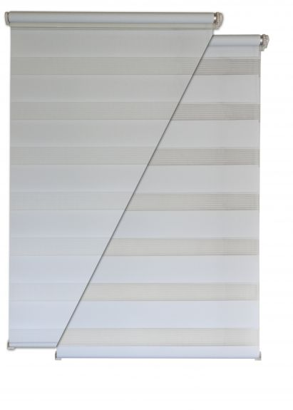 doppelrollo 45x160cm wei klemmfix ohne bohren vario seitenzug duorollo ebay. Black Bedroom Furniture Sets. Home Design Ideas