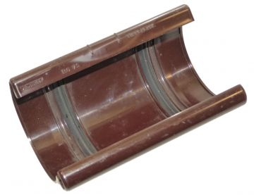dachrinnen verbinder 100 mm halbrundrinne abflussrohr braun marley neu 075631 ebay. Black Bedroom Furniture Sets. Home Design Ideas