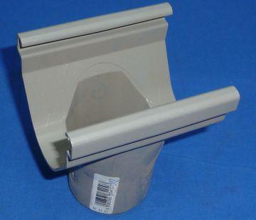 stutzen 70 mm rund dachrinne 50 fallroh abwasserrohr abflussrohr grau ebay. Black Bedroom Furniture Sets. Home Design Ideas