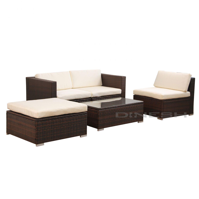 034 poly rattan sitzgruppe lounge gartenm bel. Black Bedroom Furniture Sets. Home Design Ideas