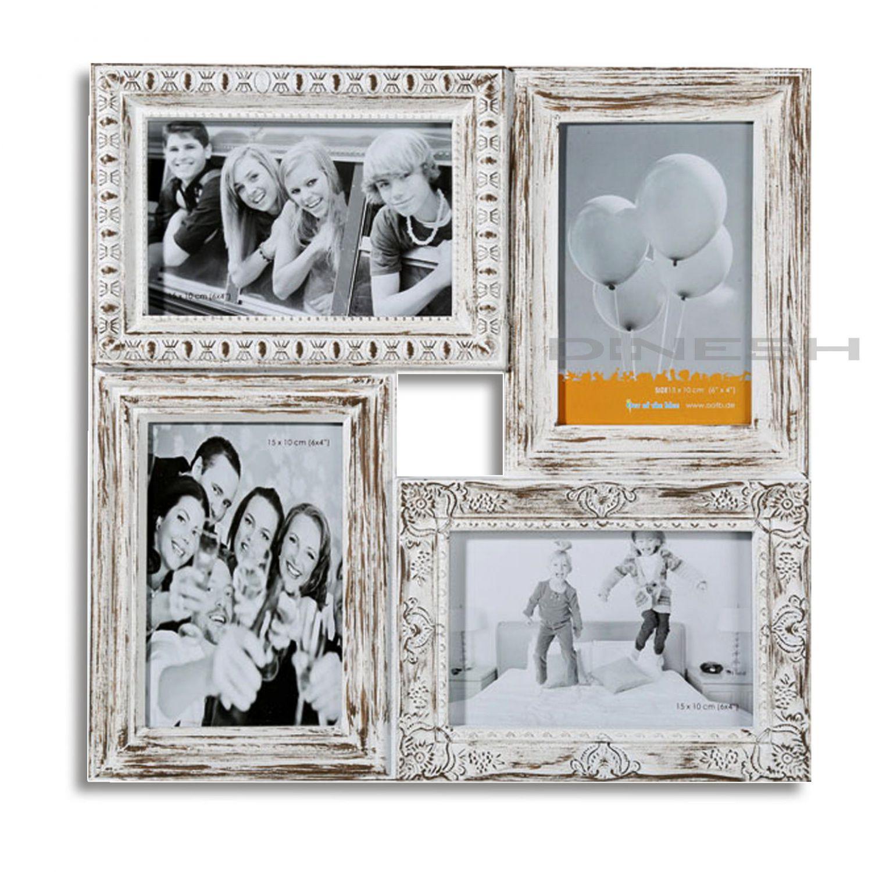 4253 bilderrahmen shabby look collage fotos fotogalerie rahmen antik weiss ebay. Black Bedroom Furniture Sets. Home Design Ideas