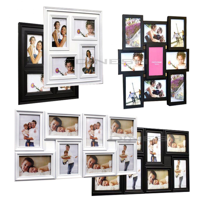 3d family fotorahmen bilderrahmen collage bilder rahmen antik wei schwarz top ebay. Black Bedroom Furniture Sets. Home Design Ideas