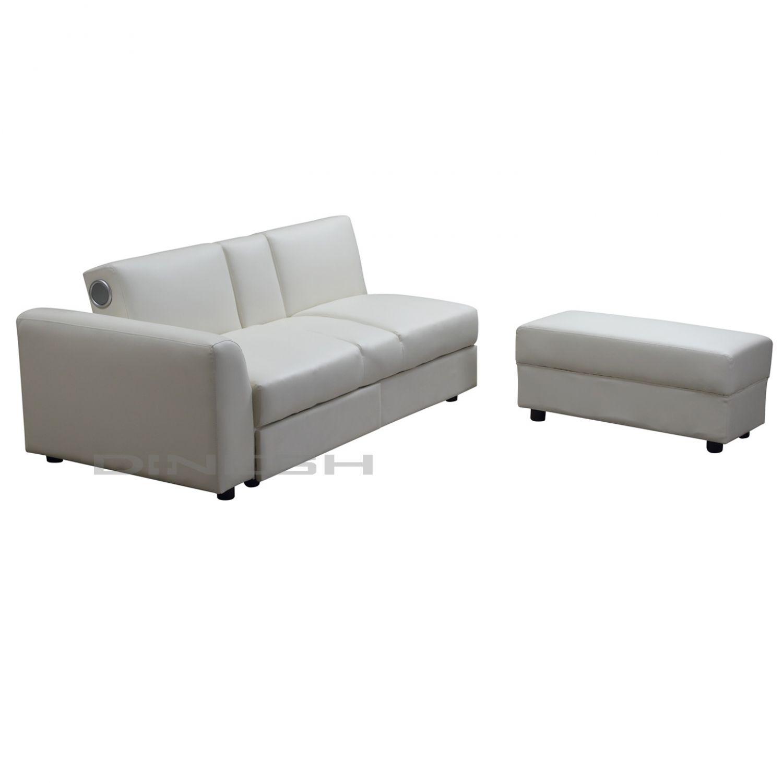 Kin funktionssofa mit bluetooth und 2 schubladen in for Schlafsofa designklassiker