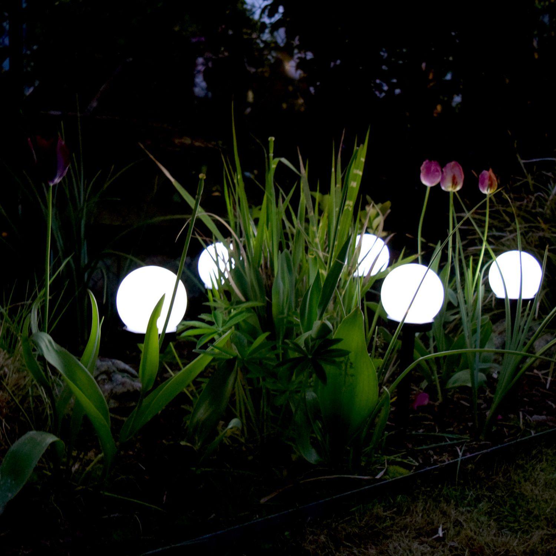 C759 6 x led solar kugel leuchte 10 cm au en lampe for Garten solarlampen