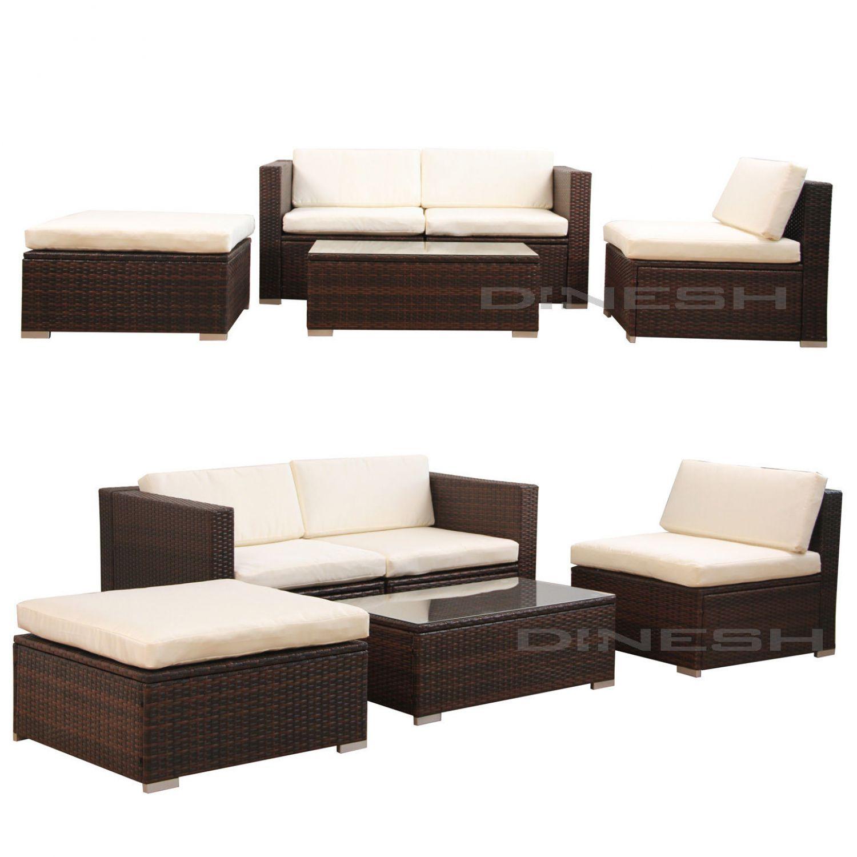 poly rattan gartenm bel gartengarnitur essgruppe gartenset. Black Bedroom Furniture Sets. Home Design Ideas