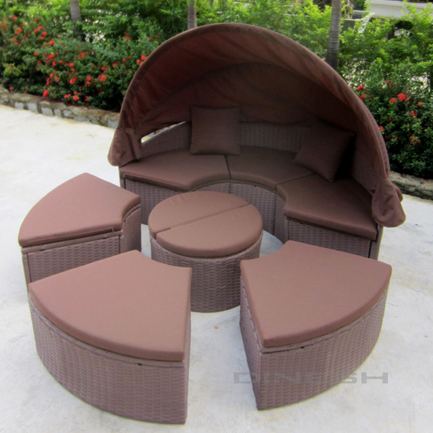 madrid polyrattan garten braun lounge gartenset sonneninsel gartenm bel ebay. Black Bedroom Furniture Sets. Home Design Ideas