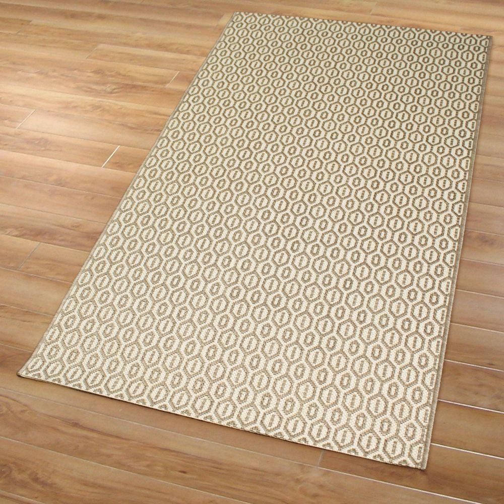 in und outdoor teppich chained mesh beige m 80x150cm kunststoff innen au en ebay. Black Bedroom Furniture Sets. Home Design Ideas
