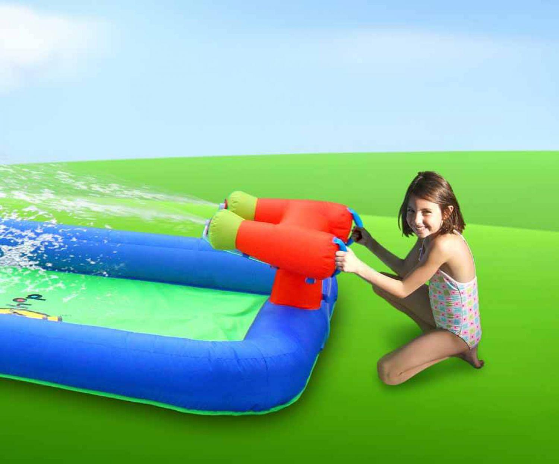 H pfburg happyhop wasserrutsche hot summer spielburg f r kinder im garten neu ebay - Wasserrutsche fur garten ...