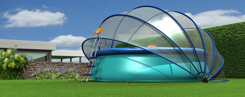 sunnytent poolabdeckung   poolplane sunny tent