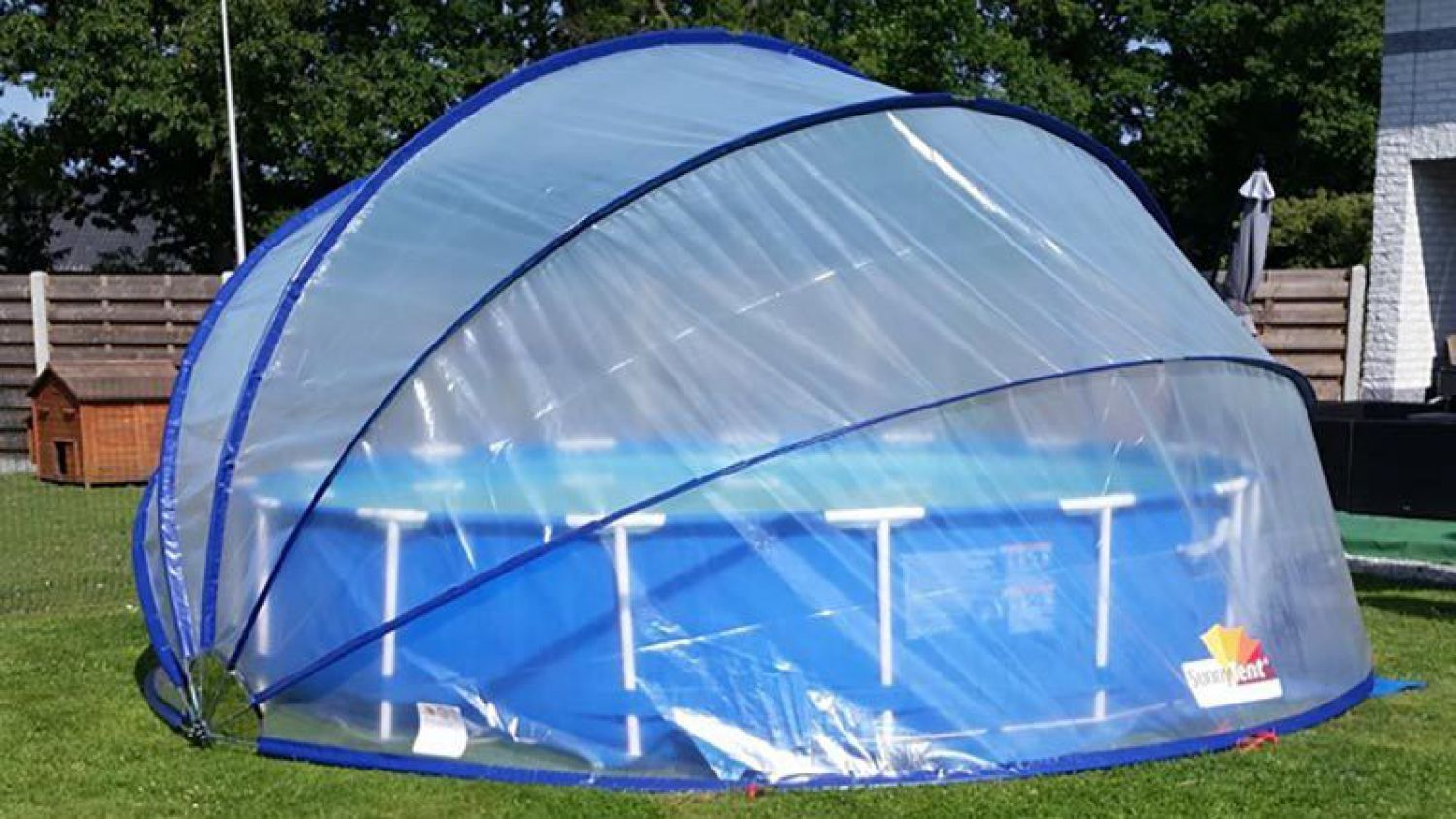 sunnytent poolabdeckung 4 40 m poolplane sunny tent pool berdachung neu ebay. Black Bedroom Furniture Sets. Home Design Ideas